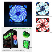 Rainbow Lights LED Fan Colorful RGB Adjustable Colour Fan 120mm LED PC Computer Cooling Cooler Silent Case Fan Controller(China)