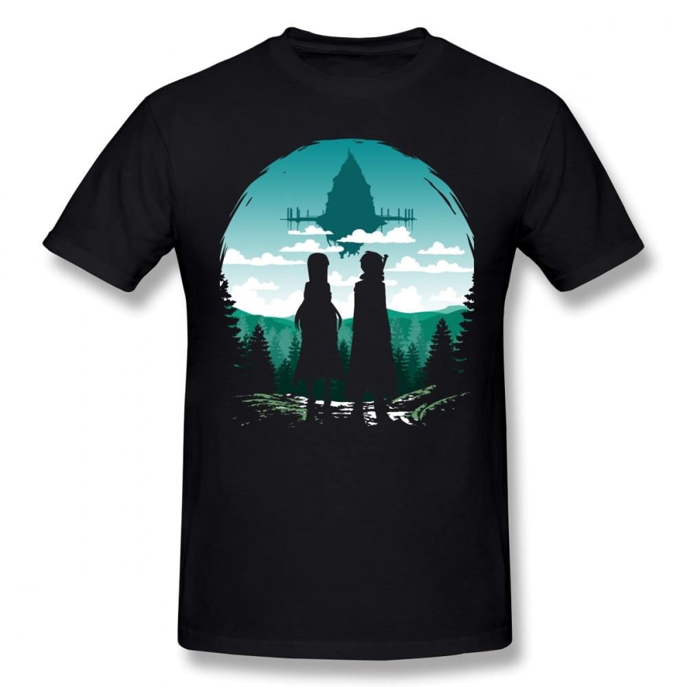Sword Art Online T Shirt SAO Aincrad T-Shirt 100% Cotton Graphic Tee Shirt Streetwear Oversized Cute Men Tshirt