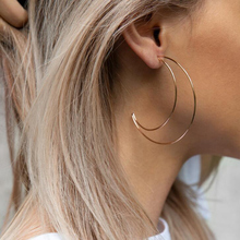 1 Pair of Women's Earrings Fashion Moon Cute Korean style Geometric Gold Simple Drop Earrings for Model Jewelry Gifts 2019 NEW pair of cute kitten earrings for women