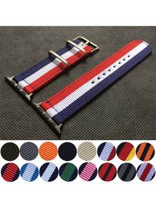 Nylon Watchband Band-Series 44mm-Strap 40mm Sport-Woven 38-Mm for Apple 6/5/4-/.. Bracelet