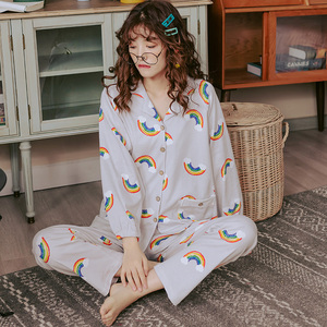 Image 2 - BZELขายร้อนชุดนอนชุดผู้หญิงการ์ตูนสไตล์Pijamasยาวแขนยาวกระทะสุภาพสตรีชุดนอนสบายๆชุดนอนขนาดใหญ่XXXL