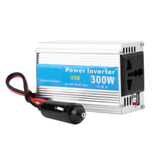 Silver Car Power Inverter 300W DC 12V to AC 220V Car Power Inverter Converter USB Charger Adapter dc 12v to ac 220v 2500w car power inverter converter portable vehicle power supply charger adapter