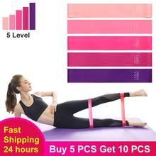 5 adet/takım spor lastik bantlar elastik bant spor Yoga egzersiz sakız Glute eğitimi egzersiz ekipmanları spor direnç ligleri
