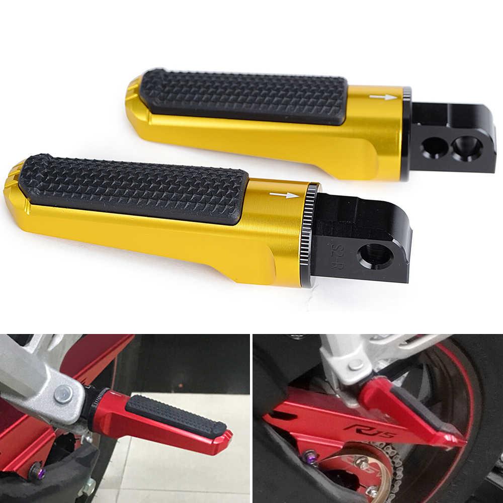 Haude Motorcycle Rear Passenger Foot Peg Footrests Fit for GSX-S750 GSX-S1000 GSX-S1000F GSX-R600 GSX-R1000 Red