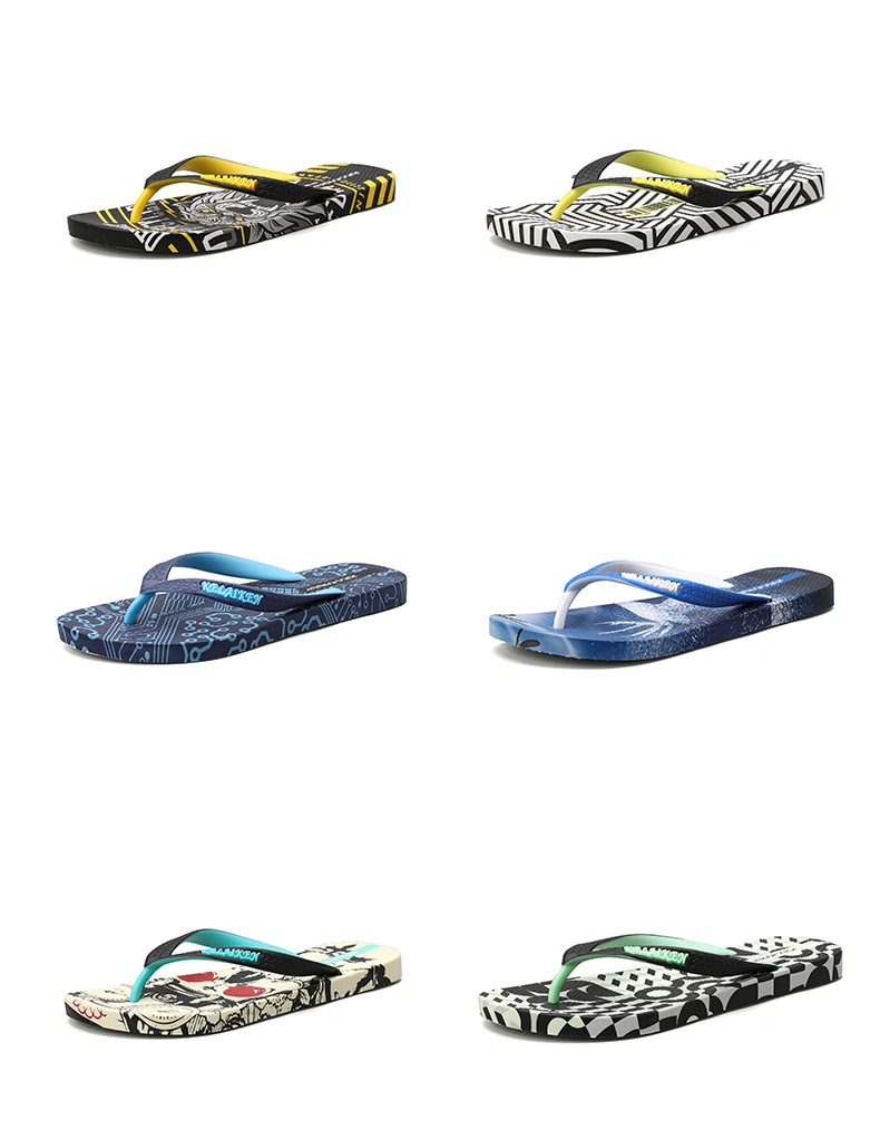 H99f7216d22b34ddd9a80c36e58a6aa0aO - VESONAL Summer Graffiti Print Slippers Men Shoes Flip Flops Slipers Male Hip Hop Street Beach Slipers Casual Flip-flops