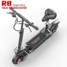 Electric-Scooter Foldable Two-Wheels Single-Drive Adults 1200W 60V High-Speed White/black