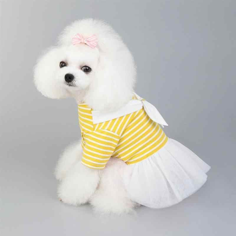 1 ud. De falda de gasa con lazo para perro, ropa para perro, vestido de fiesta, disfraz de moda para mascotas, vestido de gasa, suministros