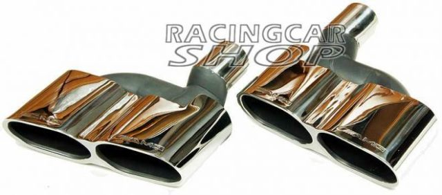 S65 AMG STYLE CHROME QUAD EXHAUST MUFFLER TIPS PIP 1PAIR for Mercedes Benz W221 S-Class M114W 5