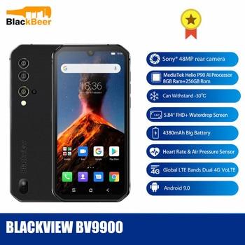 Перейти на Алиэкспресс и купить Смартфон Blackview BV9900, 5,84 дюйма, прочный, IP68, OctaCore Helio P90, Android 9,0, задняя камера 48 МП, 8 ГБ, 256 ГБ