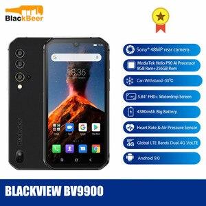 Смартфон Blackview BV9900, мобильный телефон с экраном 5,84 дюйма, прочный, IP68, Восьмиядерный процессор Helio P90, Android 9,0, задняя камера 48 МП, 8 Гб 256 ГБ