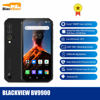 """Blackview BV9900 5.84"""" Rugged IP68 MobilePhone OctaCore Helio P90 Smartphone Android 9.0 48MP AL Rear Camera 8GB 256GB Cellphone"""