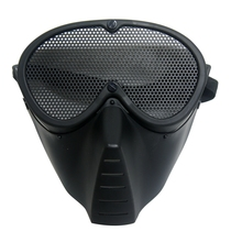 WADSN Tactical Military Tactical Mask Full Face Metal Steel Wire Mesh Safety Mask Security Protection Airsoft Hunting Accessory tactical half face metal steel net mesh mask hunting protective guard mask airsoft ear protection half face mask