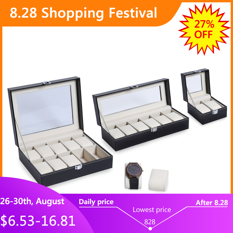 Organizer Boxes Clock Watch-Box-Case Case-Display Jewelry Professional-Holder Best-Gift