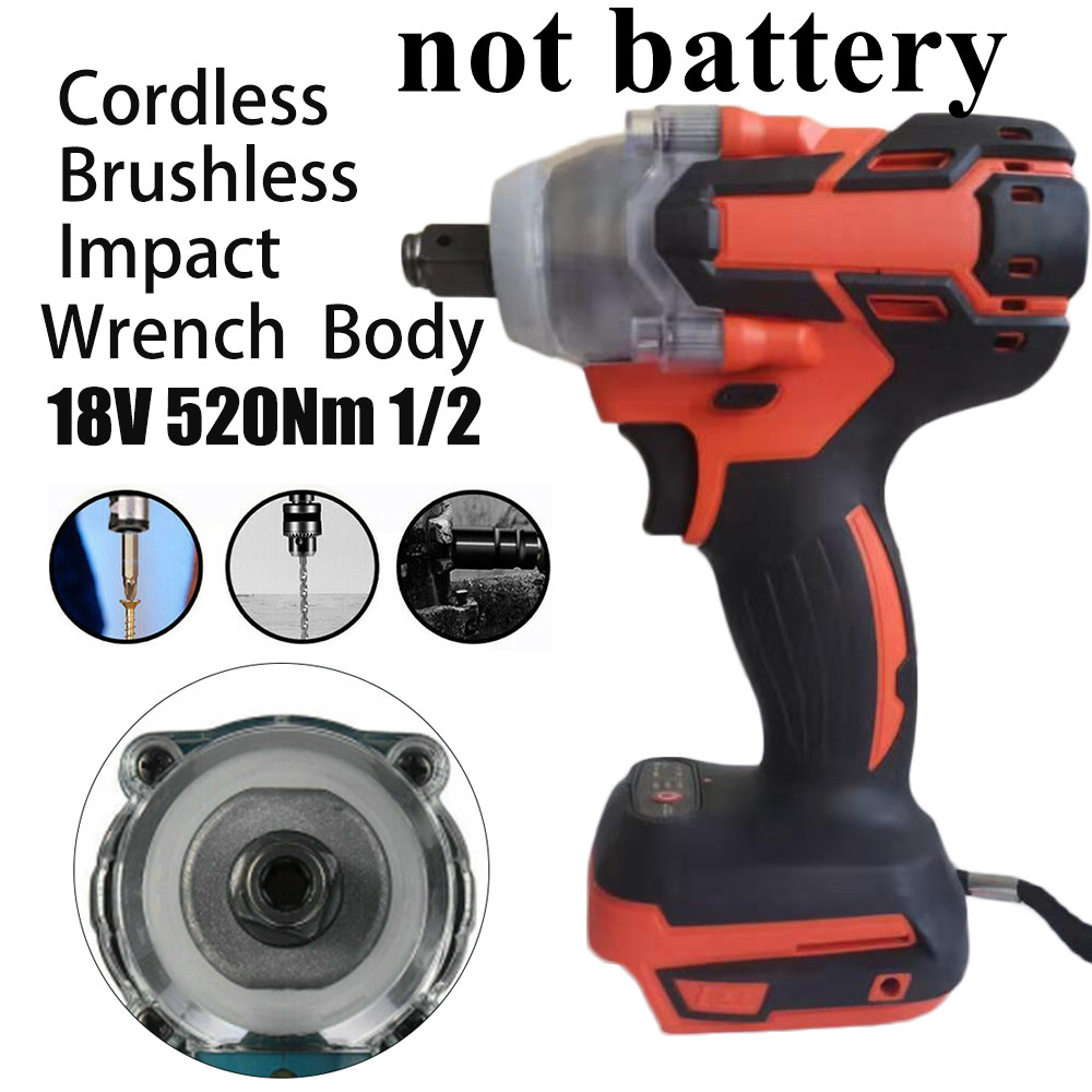 Cordless 1280W Brushless Adjustable 240-520NM Electric Hammer Drill 5