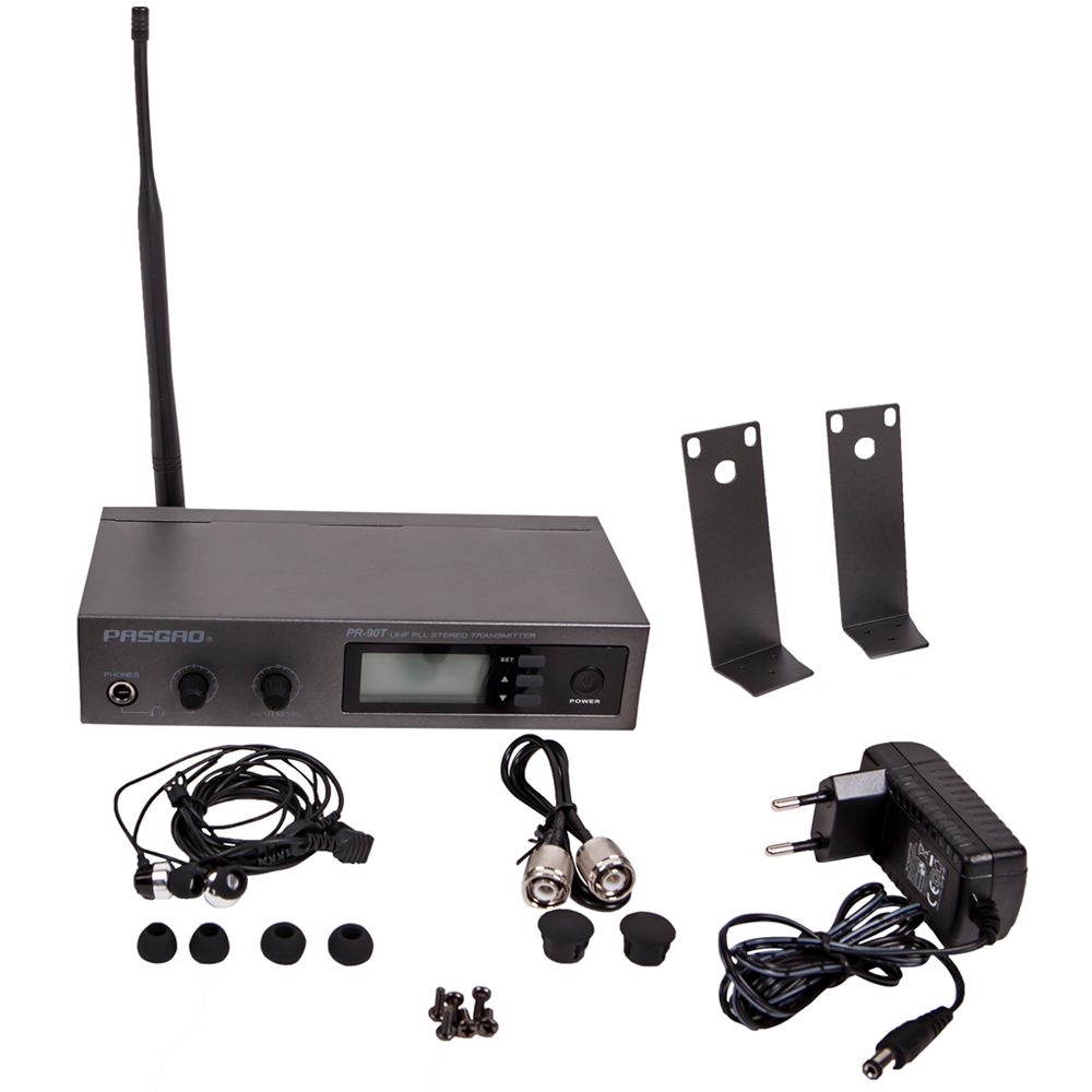 Pasgao PR90 in ear-monitor-system stereo in ear monitoring system 655-679Mhz Persönliche Überwachung Radio