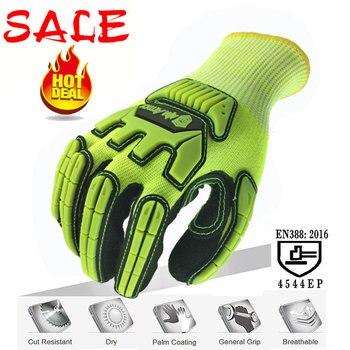 NMSafety anticorte Nivel 5 guantes de protección ANSI nivel A5 guante de trabajo de seguridad resistente al corte