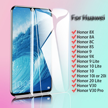 Protective Glass For Huawei Honor V30 Pro 10i 20i 9 10 Lite 8X 9X 8A 8C 8S Ultrathin Tempered Screen Protector Film 2 in 1 full cover 9d tempered glass for huawei honor 9x 9x pro 8x 8a 8c 8s v20 v30 10 20 10i 20i 10 20 lite screen protector