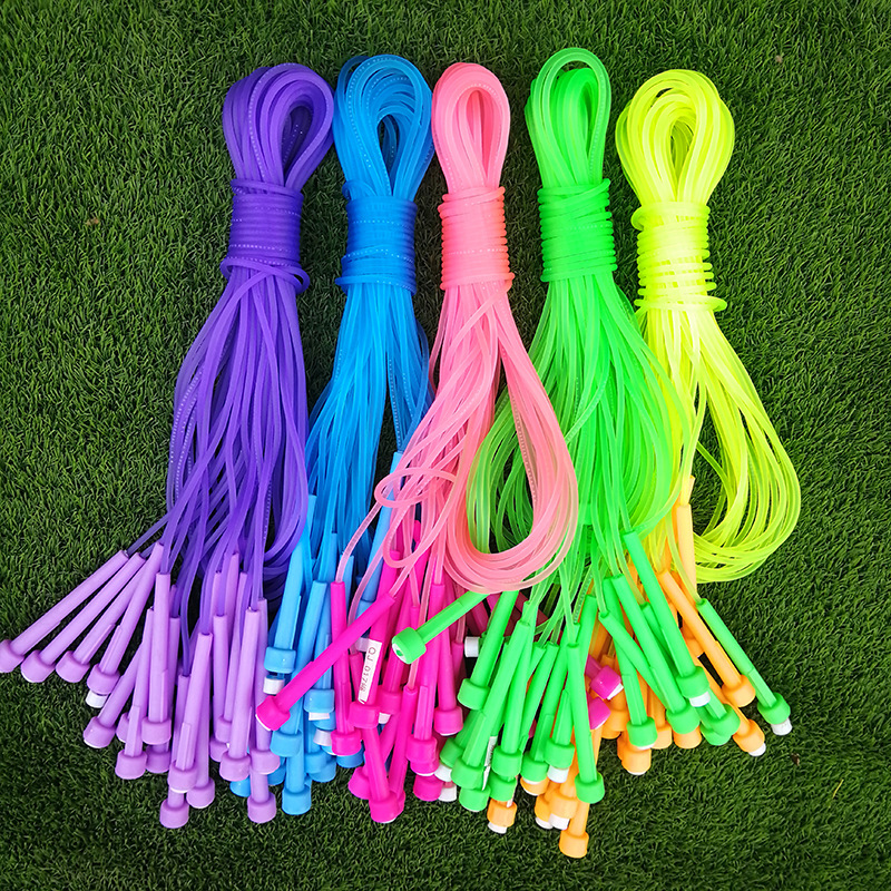 Dull Polish Translucent Jelly Textured Jump Rope Medium-small Kindergarten Students Examination Exclusive 2.7 M Jump Rope Childr