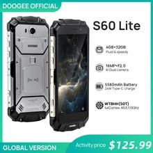 Doogee s60 lite ip68 carga sem fio smartphone 5580mah 12v2a carga rápida 16.0mp 5.2 fcore fhd mtk6750t octa núcleo 4gb ram 32gb rom