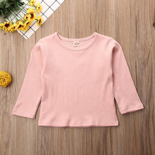 Baby Girls Boy Sweater Knitted Kid Winter Autumn T-shirts Clothes Pure Color Children Pullover long sleeve sweater Warm Clothing