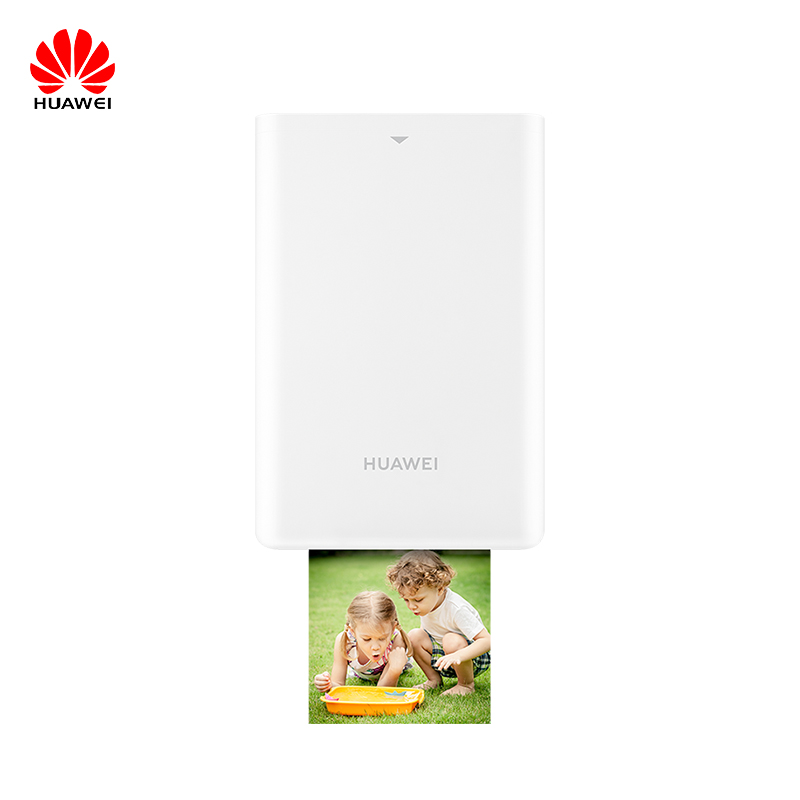 New Huawei Pocket Photo Printer HUAWEI Zink Portable Photo Printer AR Printer 300dpi Bluetooth 4.1 Support DIY Share 500mAh