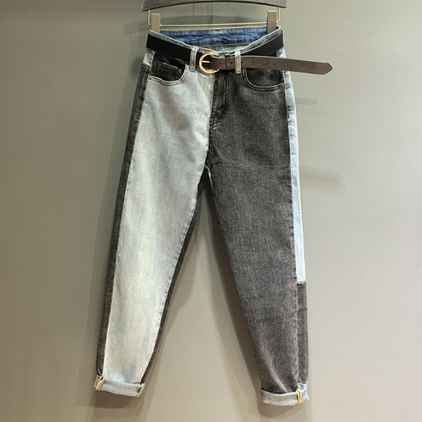 Jeans Women Plus Size Jeans Color Patch Streetwear Denim Pants Loose Jeans For Women And Men Spodnie Damskie Mujer 2020
