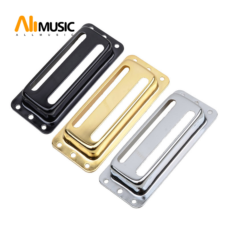Two Line Metal Brass Electric Guitar Pickup Humbucker Pickup Covers /Lid/Shell/Top - Chrome Black Gold