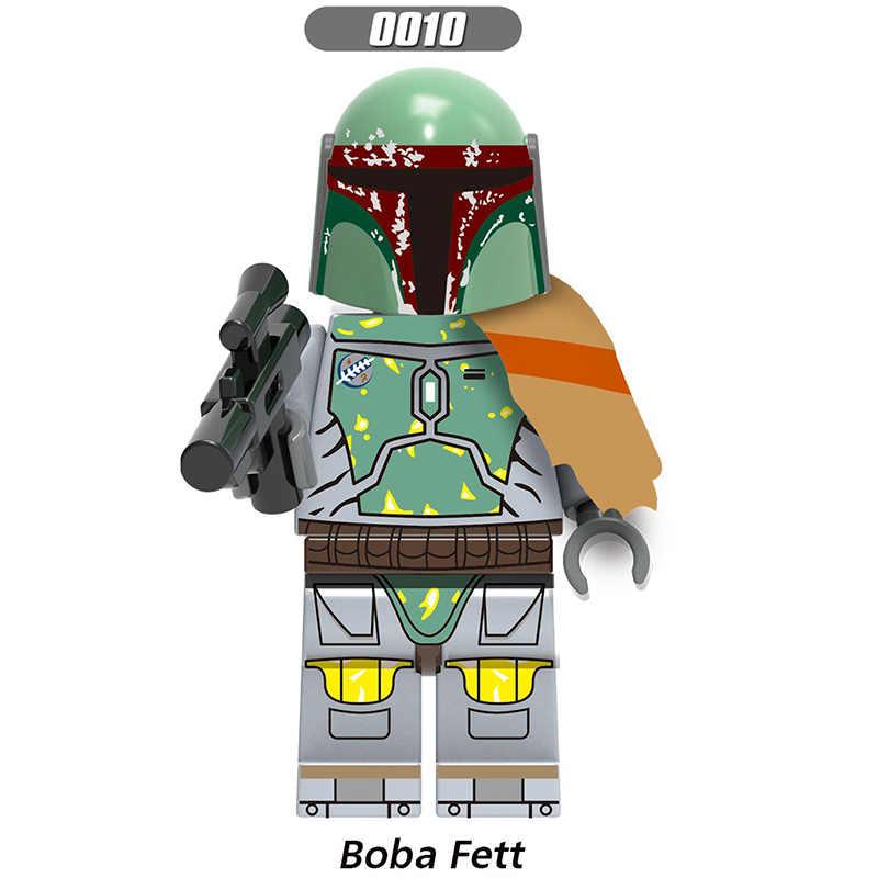 Para legoelys star wars mandalorian bobo bebê yoda sith stormer IG-88 darth vader leia luke rey jango fett blocos de construção brinquedos