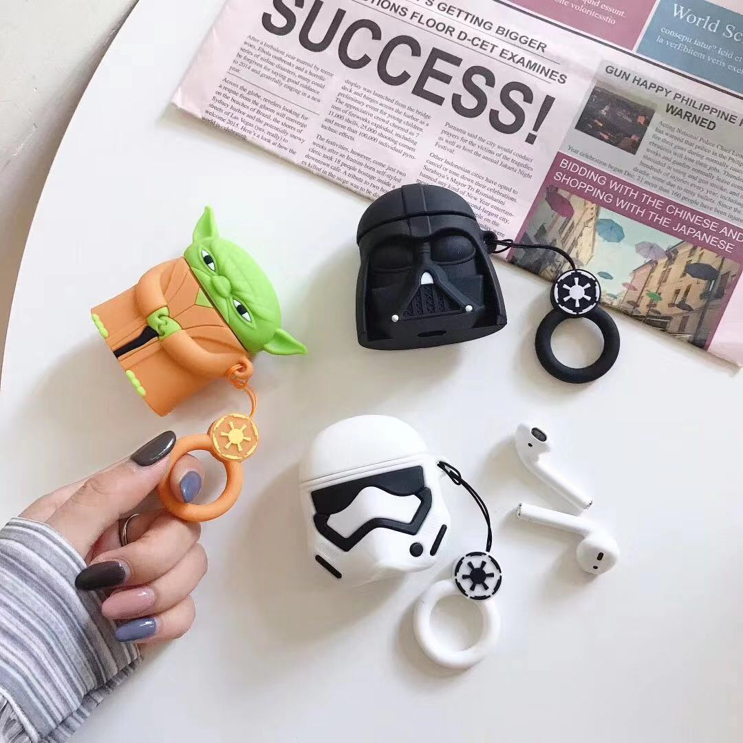 For Airpods 1 2 Airpods Pro Star Wars Master Yoda Silicone Case