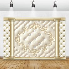 Laeacco Headboard Pillars Diamonds Garland Pattern Photography Backdrops Photographic Backgrounds Birthday Party Photozone Props