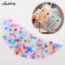 Fashion Mini 4mm Ball Nail Art Hairpin DIY Beads Jelly Jewelry Kids Toy Shoe Accessory Handy Work Home Decoration Loose Bead