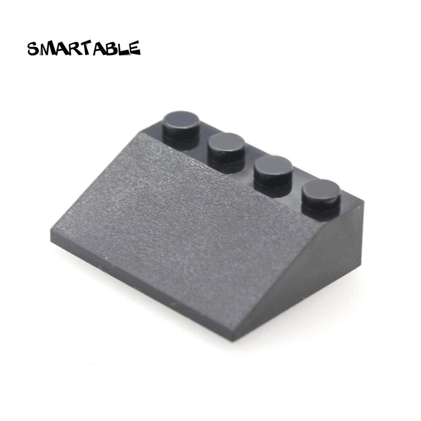 Smartable Slope 25° 4x3 Building Blocks MOC Parts Toys For Kids Creative Big House Compatible Major Brands City 3297 20pcs/lot