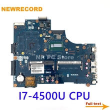 Laptop 3537 main-Board Inspiron DDR3L Dell NEWRECORD for 15R 5537 Vbw01/La-9982p/Cn-0cd6v3/..