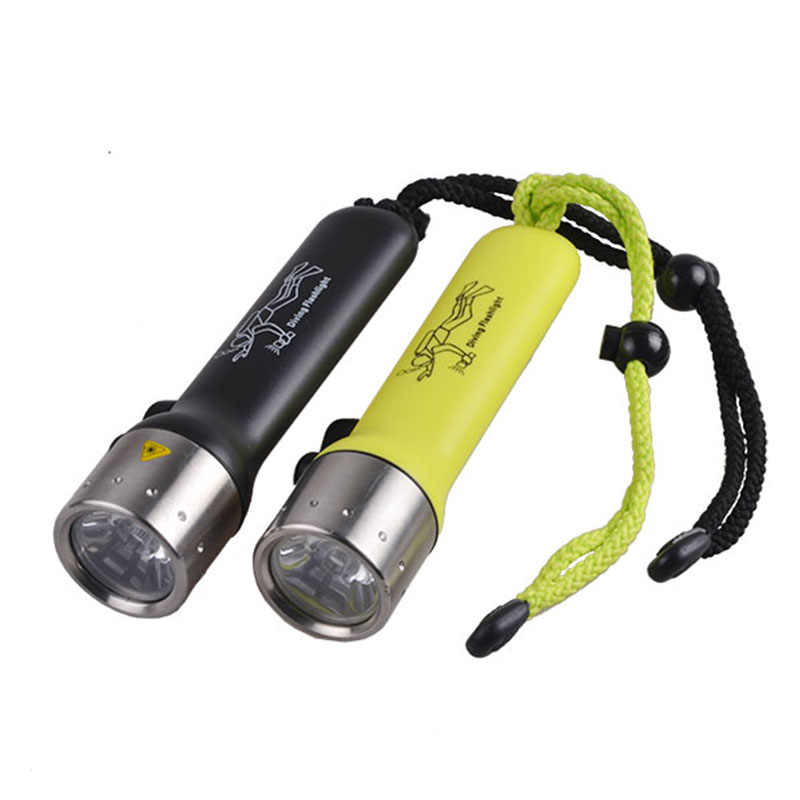 Underwater LED Diving Flashlight Torch CREE Q5 Camping Light Super Bright