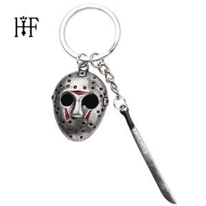 Black Friday the 13 the Keychain Chucky Face Stephen Kings IT Penny Wise Jason Hockey Freddy Scream Horror Sword keyring