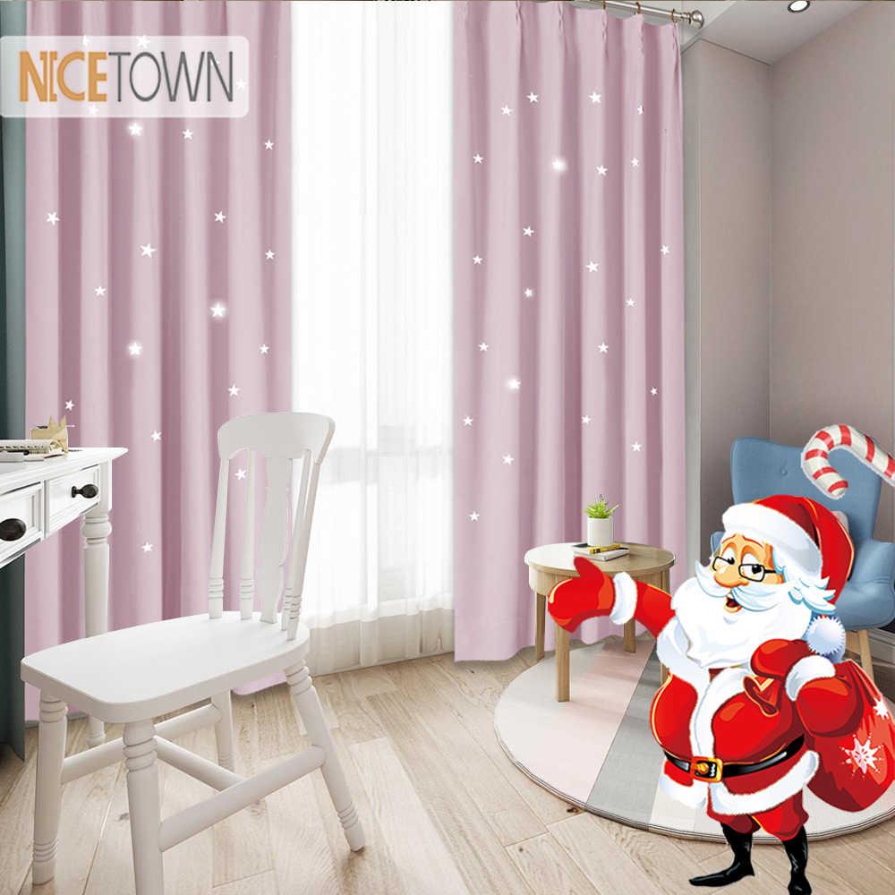 Nicetown Starry Night Sleep Enhancing Cosmic Le Blind Nursery Blackout Drape For Baby Room Curtain Drapery 1pc