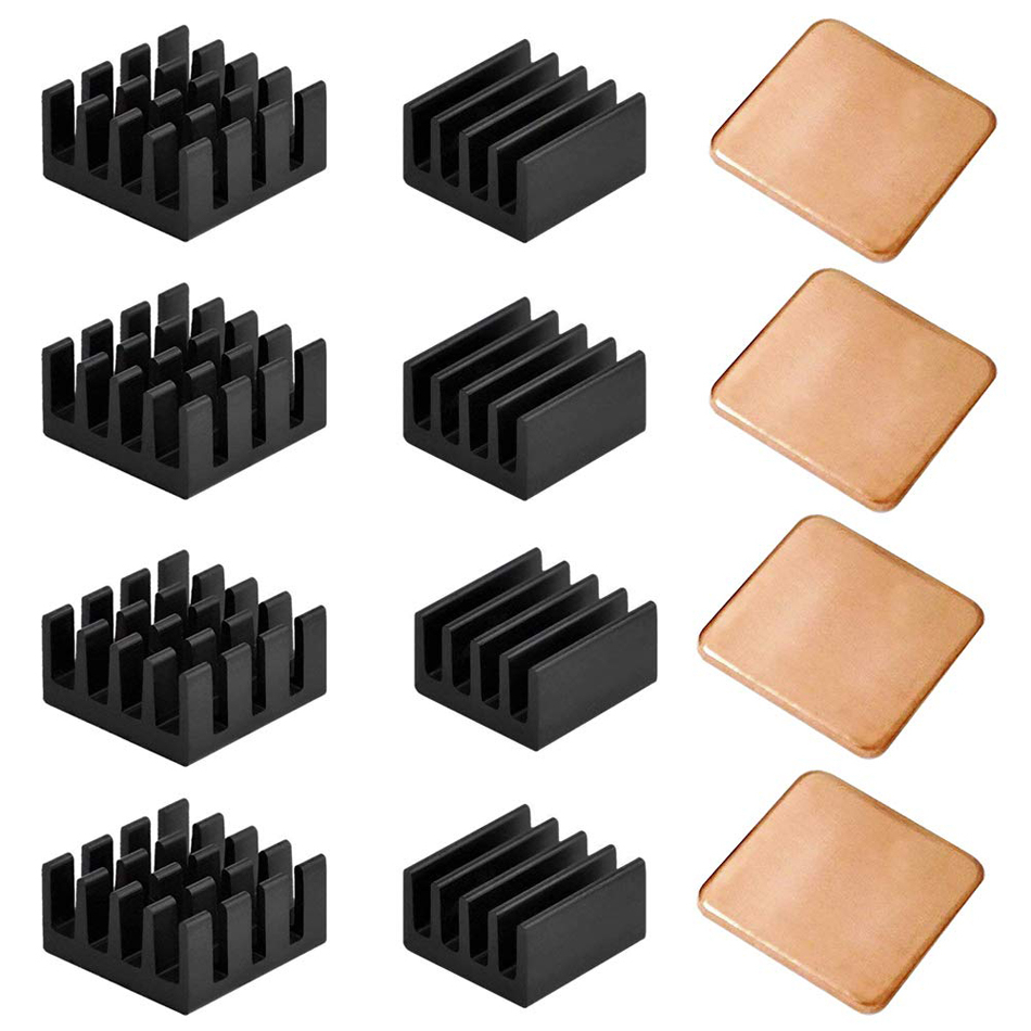 12pcs Raspberry Pi Heatsink Kit Copper Aluminum Heatsink For Cooling Cooler Raspberry Pi 3 Pi 2 Pi Model B+