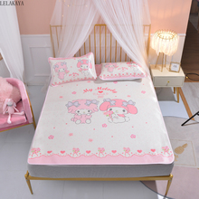 Mats Pillowcase Bedding-Set Mattress Bed-Sheets My-Melody Cartoon Washable Anime Summer