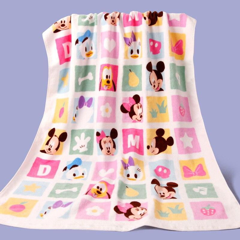 Disney New Cartoon League Princess Minnie 100% Cotton Girls Kids Teens Bath/Beach Towels 70x140cm Children Swimming Towel
