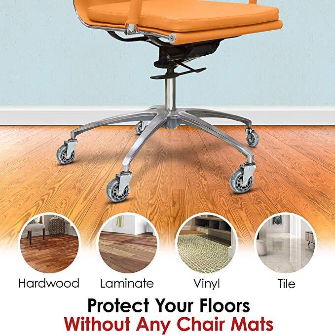 Roda resistente de borracha para cadeiras, entrega rápida, rodas de borracha para cadeiras de escritório, móveis-3