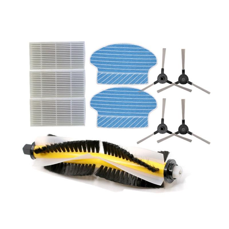 Robot HEPA Filter Side Brush Mop Cloth For Kitfort KT-516 Kt516 Robotic Vacuum Cleaner Parts Accessories