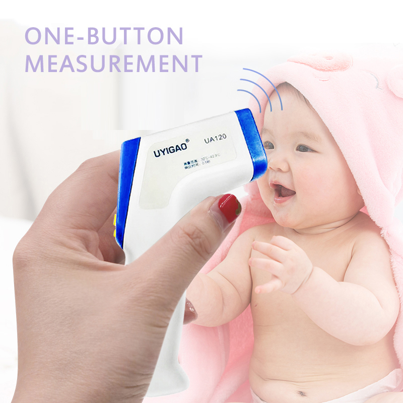 UA120/6801 Non-contact Body Thermometer Forehead Intelligent Infrared Thermometer For Babies Kids Adults Instant Measurement