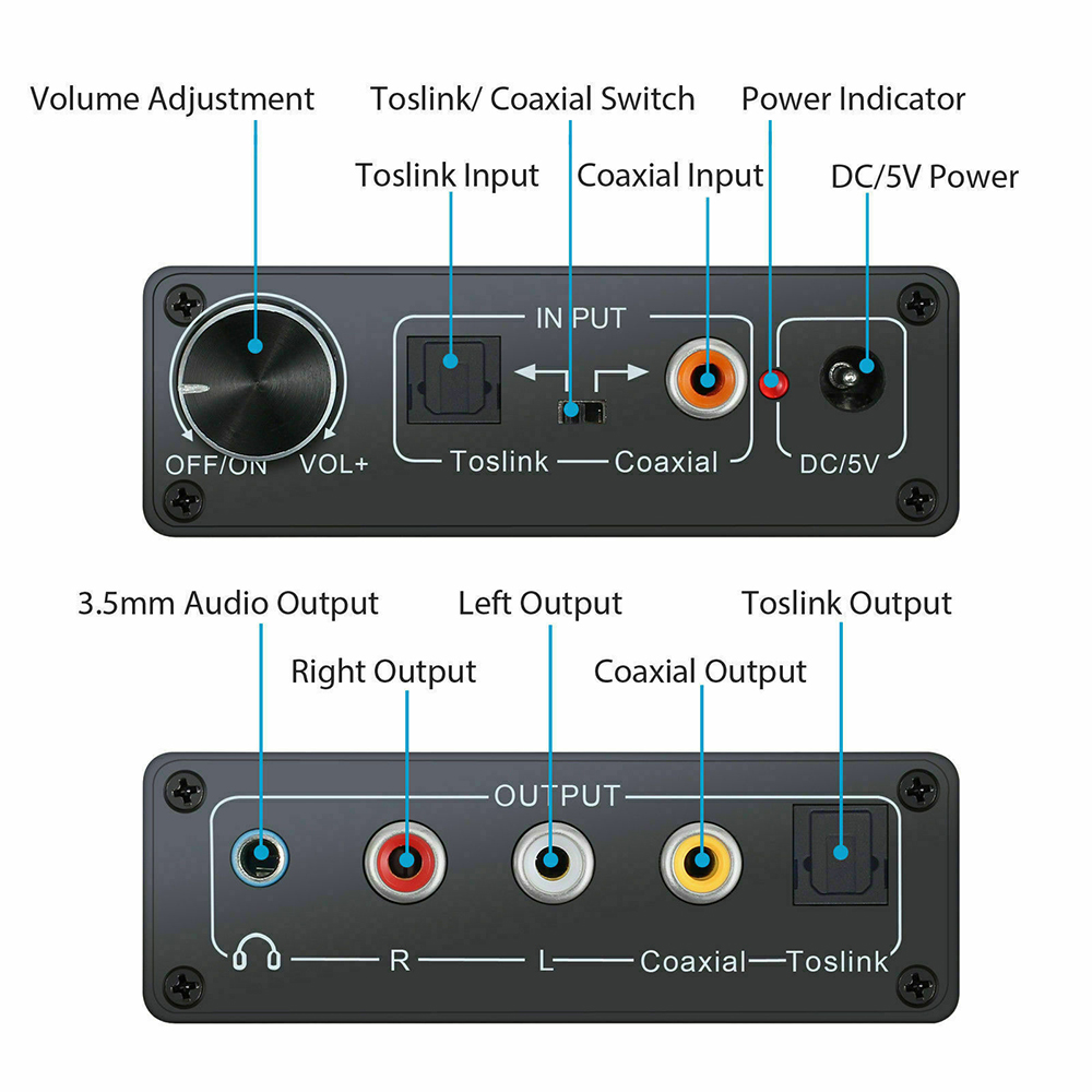 TOSLINK Right Angle Digital Audio Adapter Optical 90 Degree S//PDIF 2//3//5//10pcs