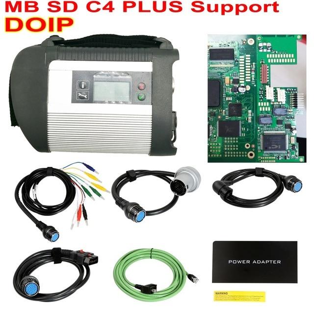 Prise en charge du diagnostic de létoile DOIP MB SD C4 PLUS pour les voitures et les camions Star C4 avec DTS et Vediamo 2020.06 HDD gratuits livraison gratuite par DHL