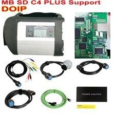 Soporte DOIP MB SD C4 PLUS Star Diagnosis para coches y camiones Star C4 con DTS & Vediamo 2020,06 gratis HDD envío gratis por DHL