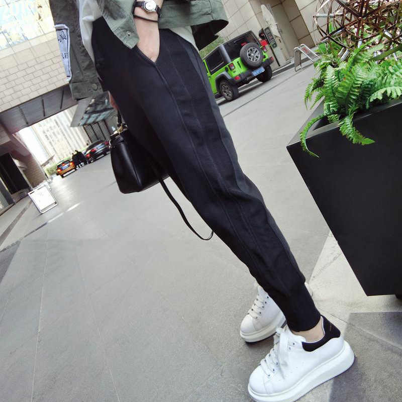 Black Sportswear Women For Spring Autumn Korean Loose Casual Pants Thin Trousers Women High Waist Loose Harem Pants Femme