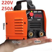 شحن مجاني 220 فولت 250A عالية الجودة رخيصة والمحمولة لحام العاكس ماكينات لحام ZX7 250