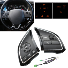 For Mitsubishi Eclipse Cross Xpander 2016 2020  ASX Cruise Speed Control Switch Steering Wheel Buttons Bluetooth Audio Volume