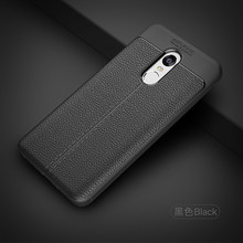For Xiaomi Mi5S Case Litchi Leather Grained Anti-fingerprint Luxury TPU Shockproof Back Cover for Xiaomi Redmi 5 plus Redmi 5(China)