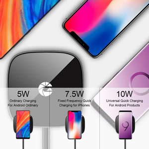 Image 4 - Mini Fast QI Wireless Charger Pad For Huawei Xiaomi Samsung S10 Plus S9 S8 Note 10 9 iPhone 11 Pro Max X XR XS Cordless Charging